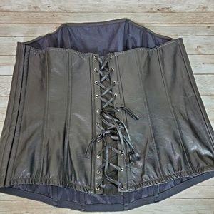 Cacique Faux Leather Corset 22/24